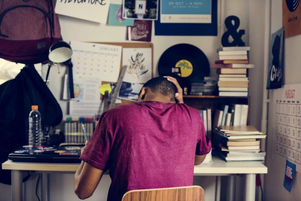 Jeune symptômes du stress